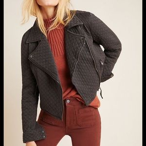NWT Anthropologie Marrakech Quilted Moto Jacket